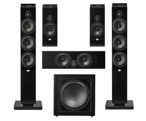 NHT MS Tower 5.1 System, Home Theater Package, 5.1 Surround Speaker System