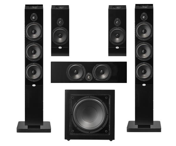 nht ms tower 5 1 system home theater package 5 1. Black Bedroom Furniture Sets. Home Design Ideas