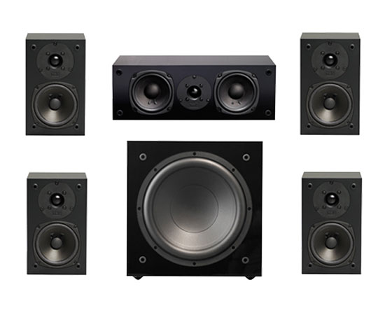 NHT Super Surround 5.1, Surround Sound Speakers, 5.1 Home Theater Speakers