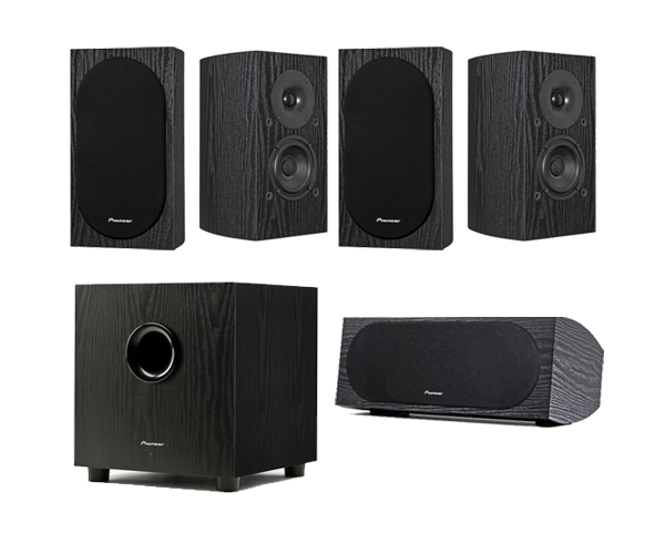 pioneer 5 1 home theater system. pioneer sp-pk22-bs - bookshelf speaker package 5 1 home theater system