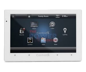 Control4 C4-TSWMC5-EG-WH 5 inch In-Wall Touch Screen